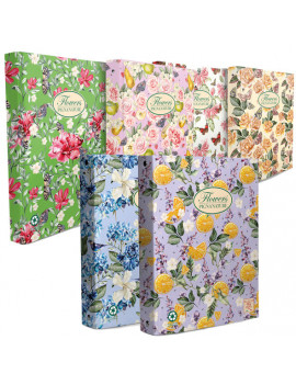 Raccoglitore Nature Flowers Pigna - 27x32 cm - 4 Anelli Tondi Ø30 mm - 005479630 (Assortiti Conf. 5)