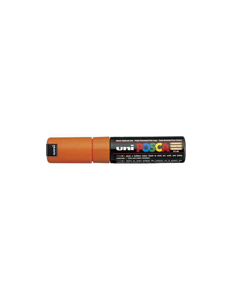 Marcatore a Tempera Uni Posca PC8K Uni-Ball - Punta Scalpello - 8 mm - M PC8K AR (Arancione)