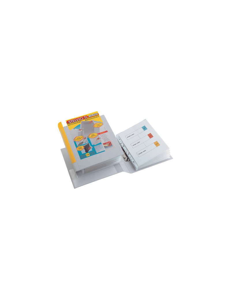 Raccoglitore Personalizzabile Stelvio TI Sei Rota - A4 - 2 Anelli a D Ø50 mm - 35504601 (Bianco)