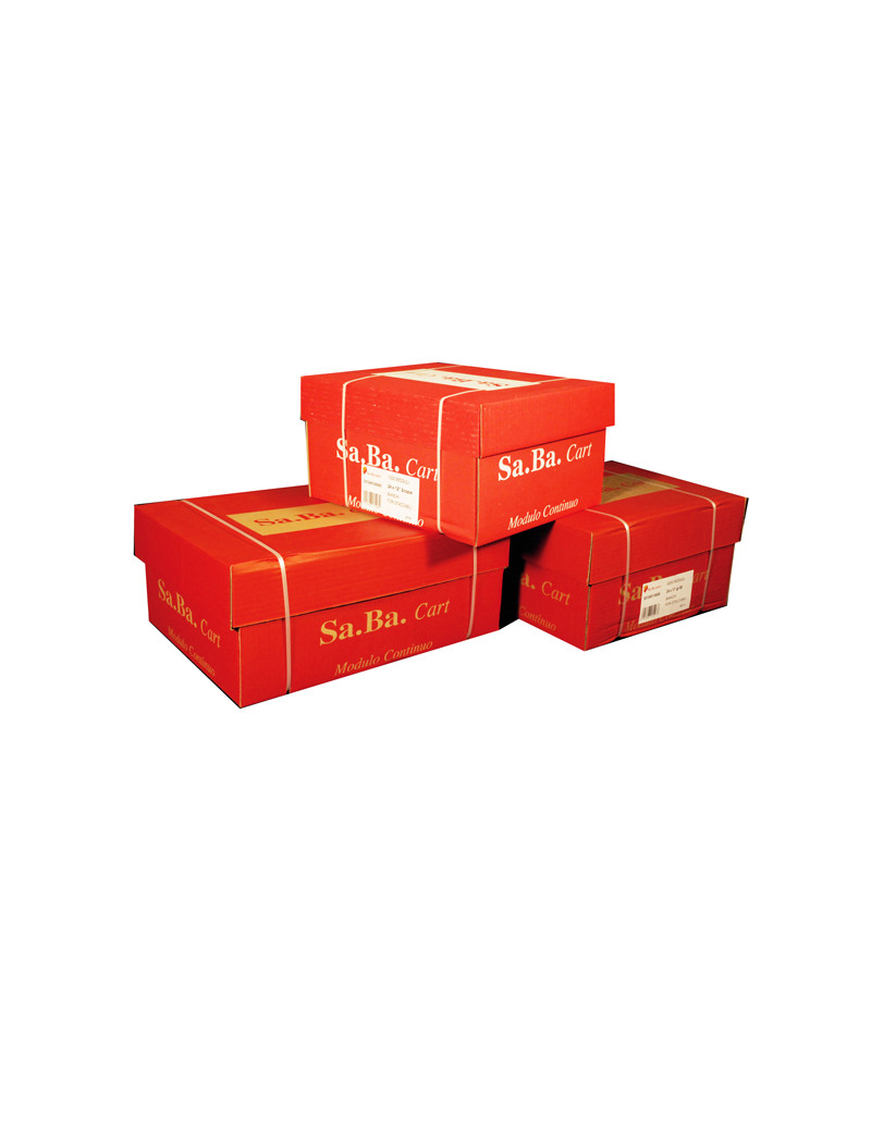 "Modulo in Continuo Sabacart - 24x11"" - Carta Chimica 2 Copie - Piste Staccabili - 53 g - S21240116000 (Bianco Conf. 1000)"