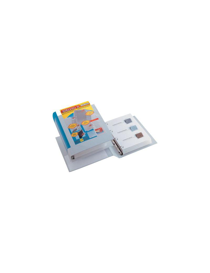 Raccoglitore Personalizzabile Stelvio TI Sei Rota - A4 - 4 Anelli a D Ø30 mm - 36304137 (Blu)