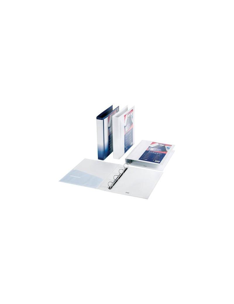 Raccoglitore Personalizzabile Europa Favorit - A4 - 4 Anelli a D Ø50 mm - 100460470 (Blu)