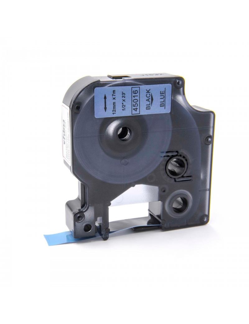 Nastro Compatibile Dymo S0720560 - 45016 - 12 mm x 7 m (Nero su Blu)