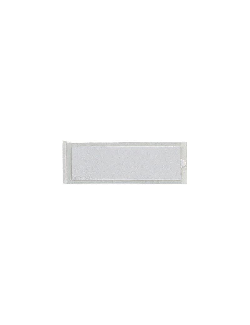 Porta Etichette Adesive Ies B3 Sei Rota - Con Etichetta - 24x124 mm - 320323 (Trasparente Conf. 6)