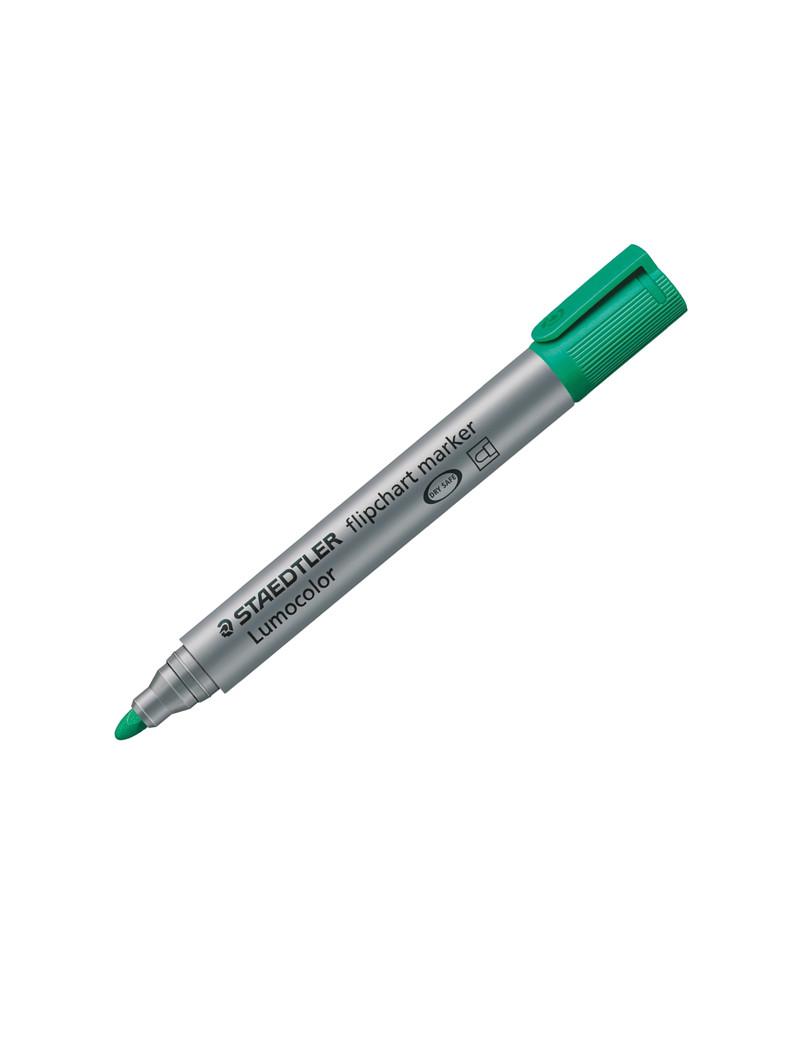 Marcatore a Secco Lumocolor Flipchart 356 - Punta Tonda - 2 mm - 3565 (Verde)