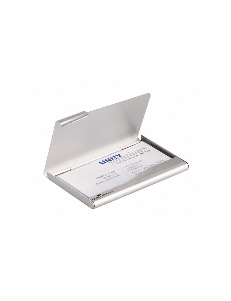 Portabiglietti da Visita Box Durable - Acciaio - 2415-23 (Argento)