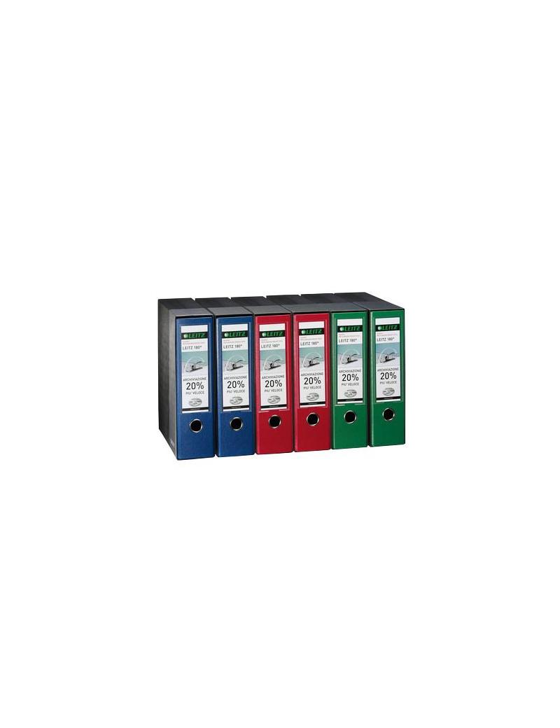 Registratore 180° con Custodia Leitz - Protocollo - Dorso 8 - 23x33 cm - 390765180 (Verde)