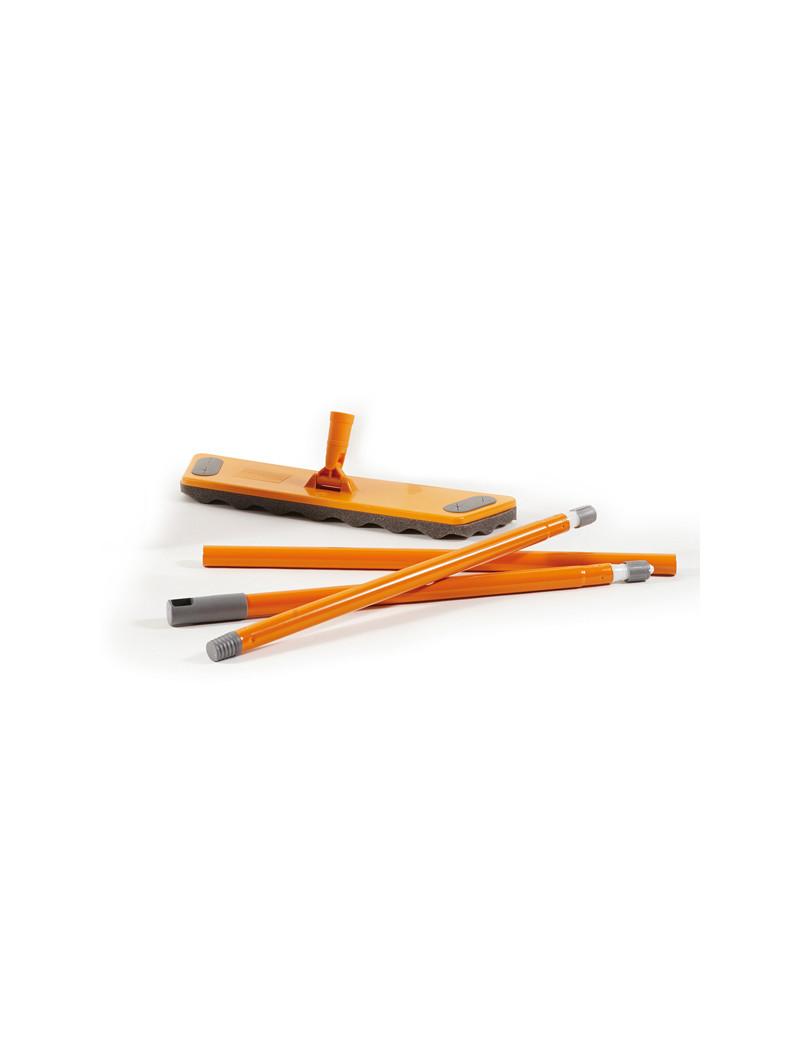 Kit il Pulipolvere La Piacentina - Scopa, Manico e Veline - 0027A (Arancione)