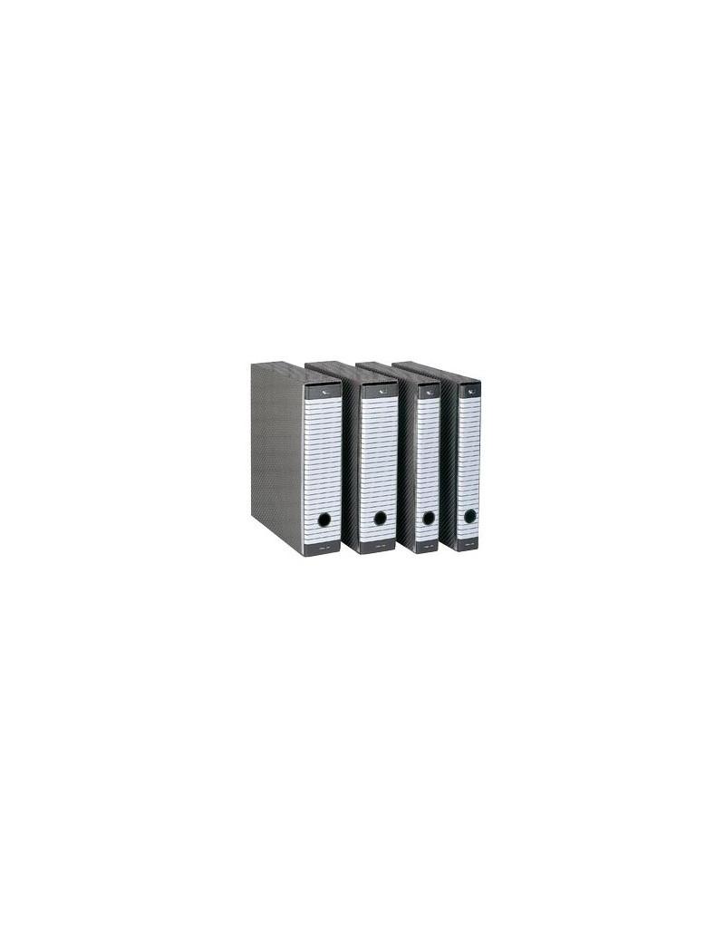 Registratore Delso Line Esselte - Commerciale - Dorso 8 - 23x30 cm - 390713060 (Bianco e Grigio)