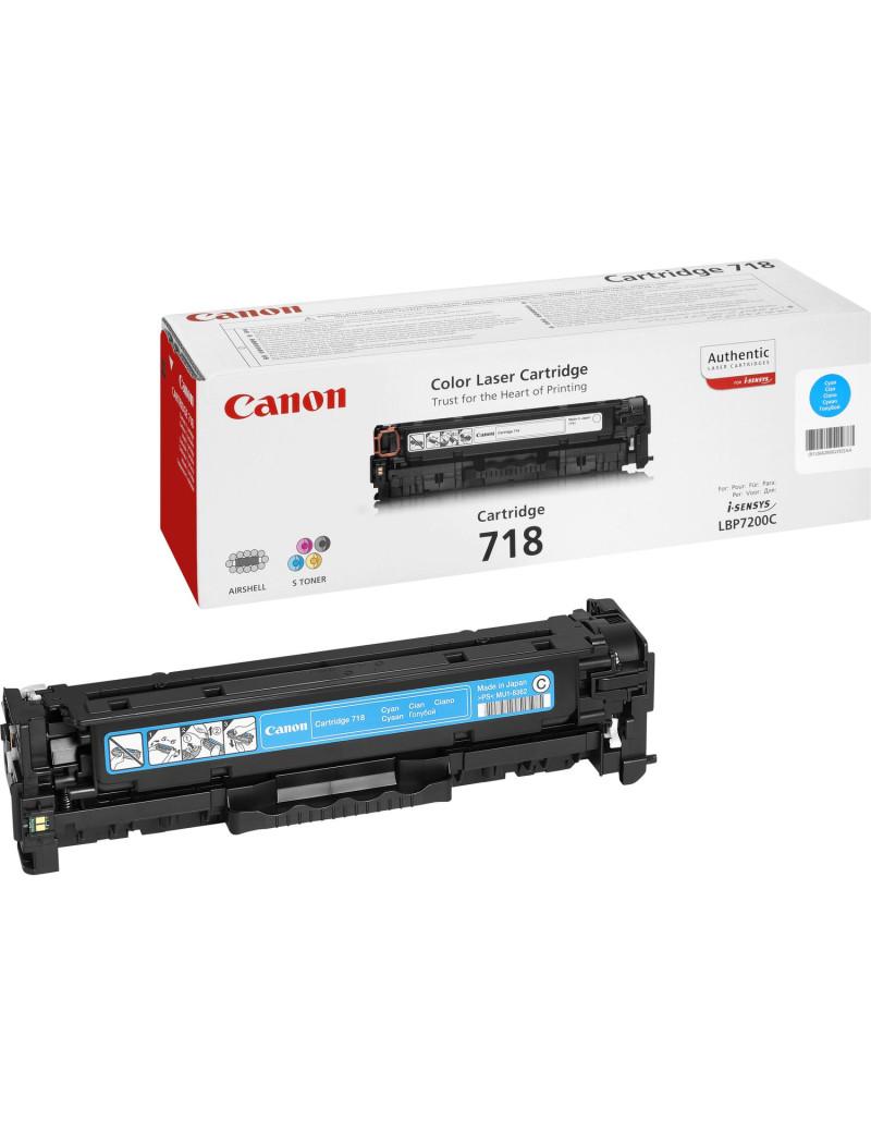 Toner Originale Canon 718c 2661B002 (Ciano 2900 pagine)