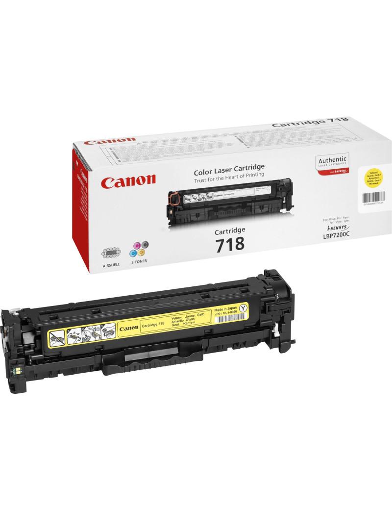 Toner Originale Canon 718y 2659B002 (Giallo 2900 pagine)