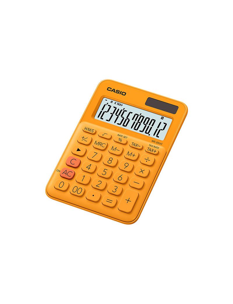 Calcolatrice da Tavolo Casio MS-20UC-RG (Arancione)