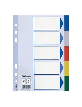 Intercalare Neutro in PPL Esselte - A5 - 5 Tasti - 15264 (Multicolore)