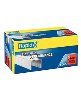 Punti Metallici per Cucitrice Extra High Performance Rapid - 24/8+ - 24860100 (Conf. 5000)
