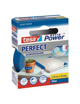 Nastro Adesivo in Tela XP Perfect Tesa - 19 mm x 2,7 m - 56341-00029 (Blu)
