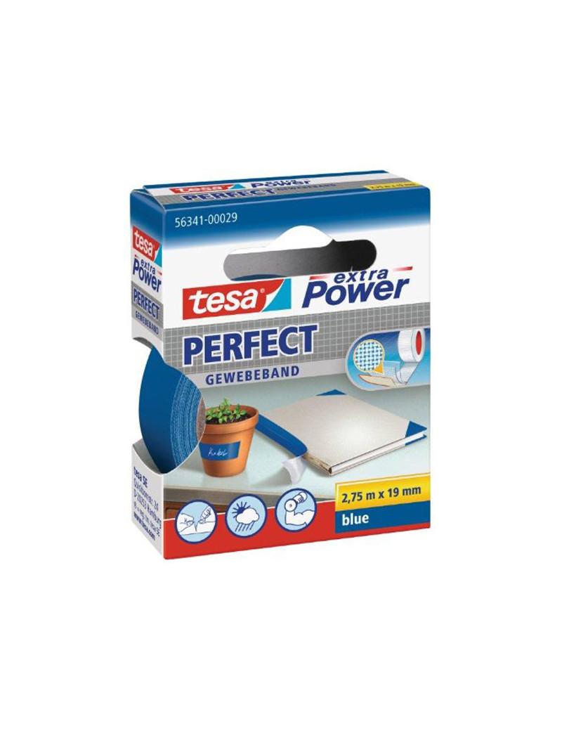 Nastro Adesivo in Tela XP Perfect Tesa - 19 mm x 2,7 m - 56341-00029 (Blu)