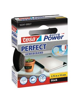 Nastro Adesivo in Tela XP Perfect Tesa - 19 mm x 2,7 m - 56341-00027 (Nero)