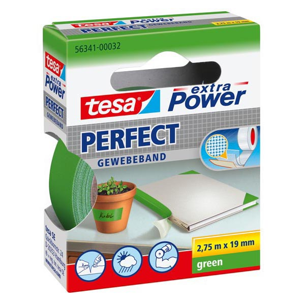 Nastro-Adesivo-in-Tela-XP-Perfect-Tesa-19-mm-x-2-7-m-56341-00032-Verde