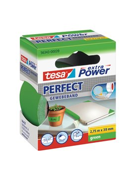 Nastro Adesivo in Tela XP Perfect Tesa - 38 mm x 2,7 m - 56343-00039 (Verde)