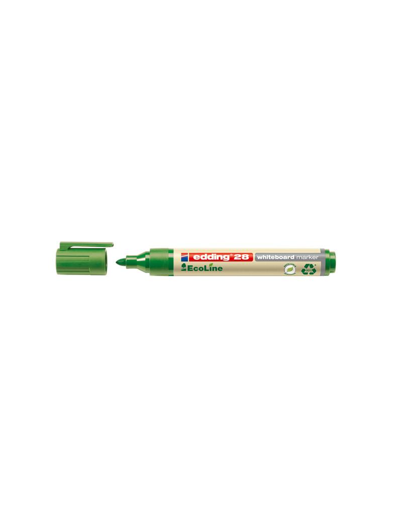Marcatore per Lavagne 28 Edding - Punta Tonda - 1,5-3 mm - E-28004 (Verde Conf. 10)