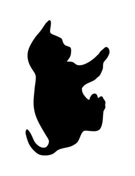 Lavagna da Parete Silhouette Securit - 50x30 cm - Gatto - FB-CAT (Nero)