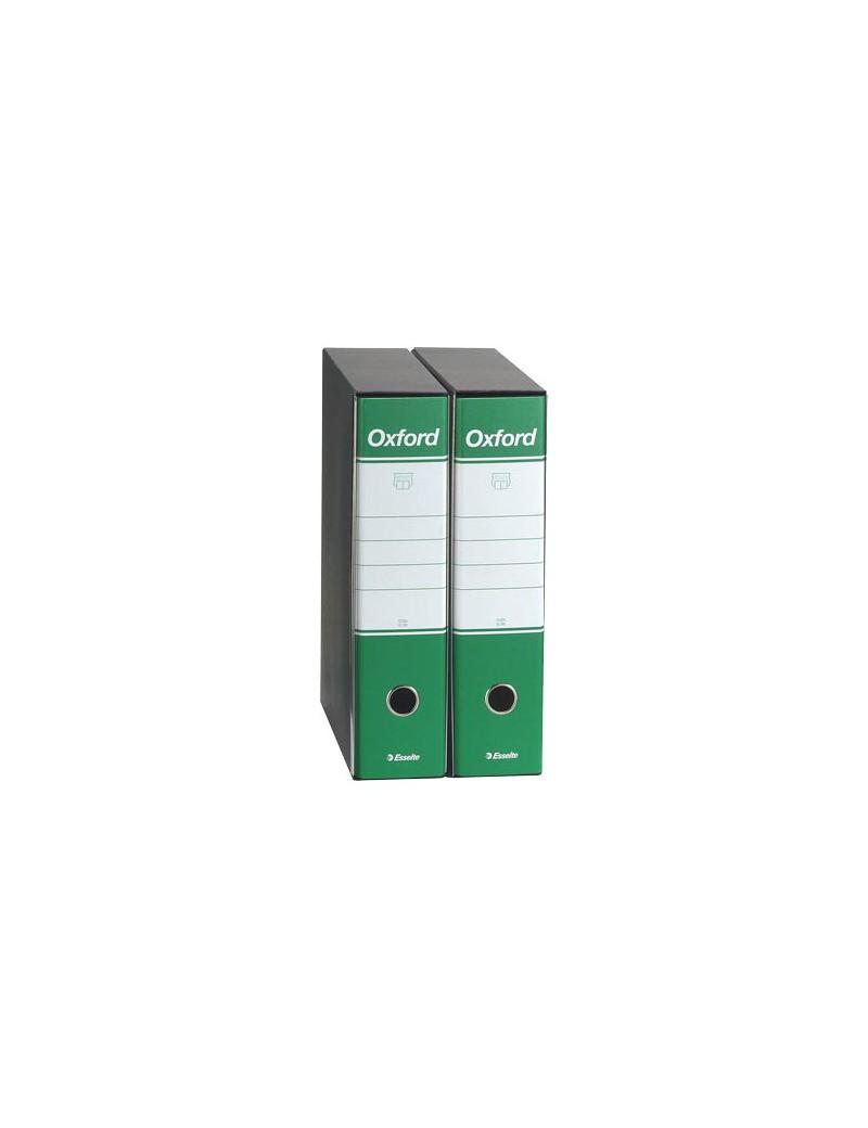 Registratore Oxford G85 Esselte - Protocollo - Dorso 8 - 23x33 cm - 390785180 (Verde Conf. 6)