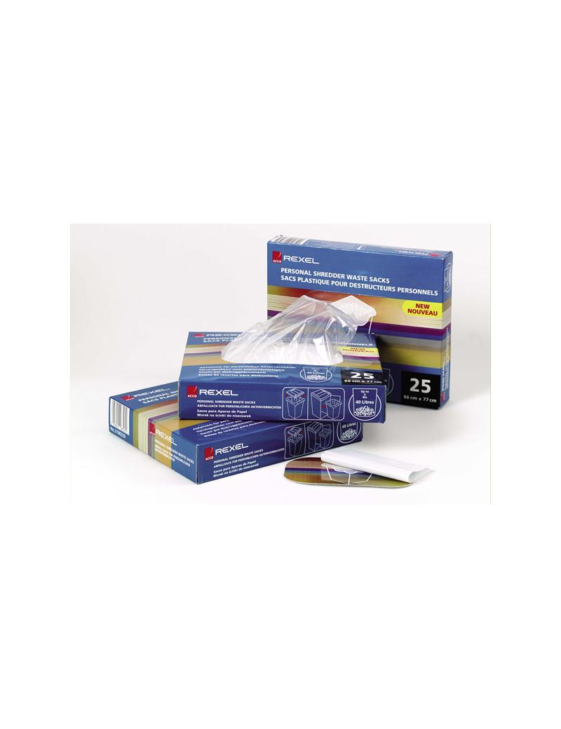 Sacchetti per Distruggidocumenti AS1000 Rexel - 50-70 Litri - 40070 (Conf. 100)