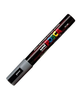 Marcatore a Tempera Uni Posca PC5M Uni-Ball - Tonda - 1,8-2,5 mm - M PC5M GR (Grigio)