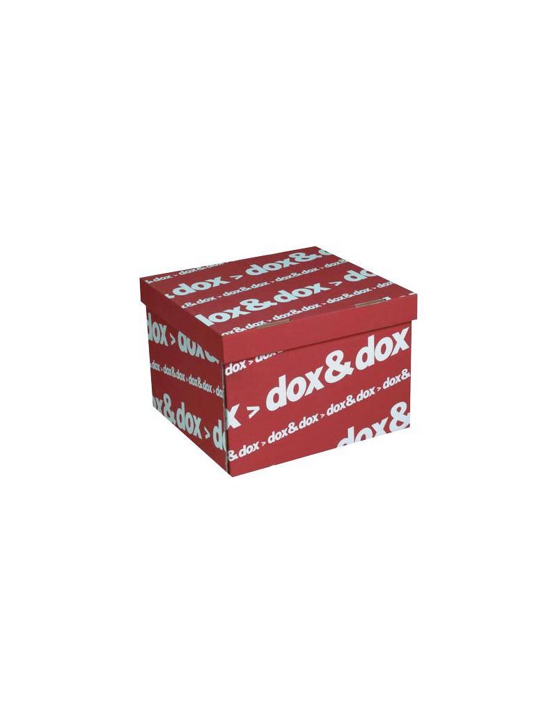 Scatola Archivio Dox&Dox Rexel - 42x29x39,5 cm - 1600175 (Rosso Conf. 12)