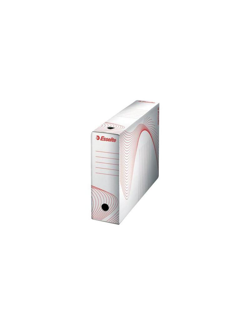 Scatola Archivio Boxi 100 Esselte - Dorso 10 - 25x35 (Bianco e Rosso Conf. 10)