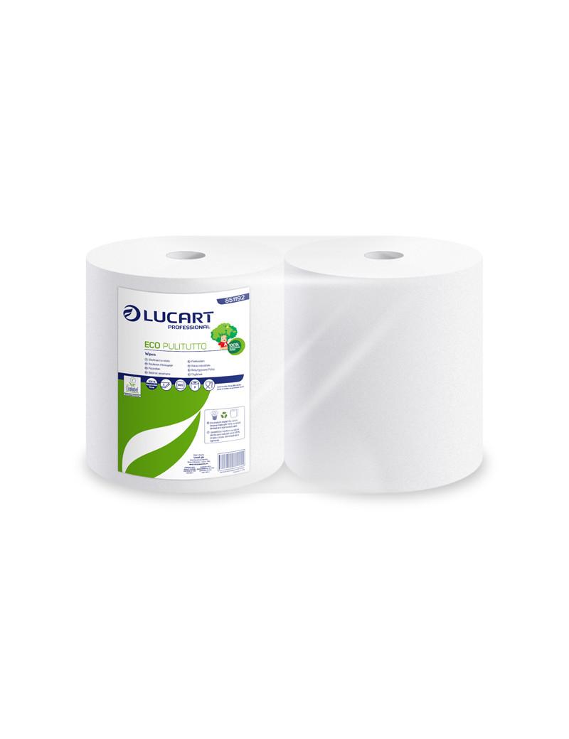 Bobina Asciugatutto Eco Pulitutto Lucart - 2 Veli - 800 Strappi - 851192 (Conf. 2)