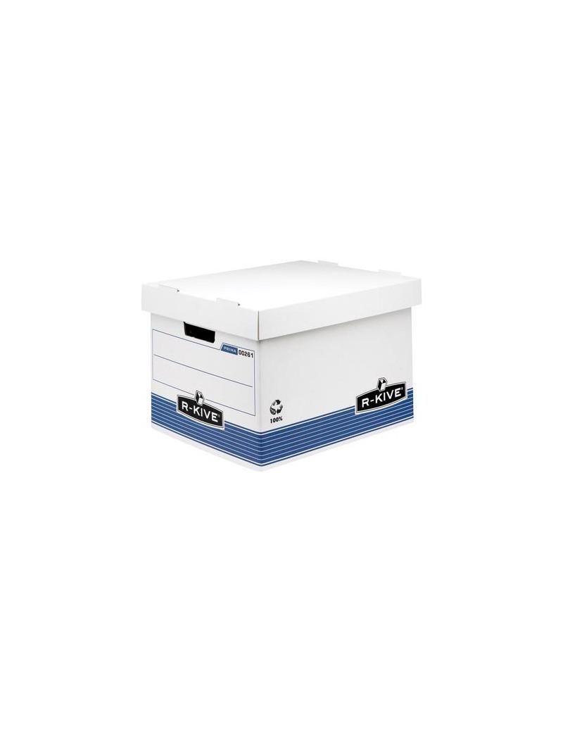Sistema di Archiviazione R-Kive Prima Fellowes - 33,5x40,4x29,2 cm (Bianco e Blu Conf. 10)