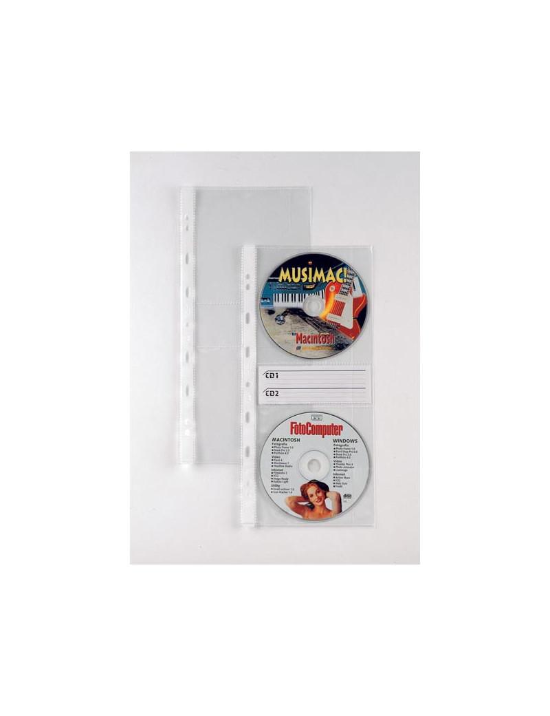 Busta a Perforazione Universale Atla CD2 Sei Rota - 662508 (Trasparente Conf. 10)