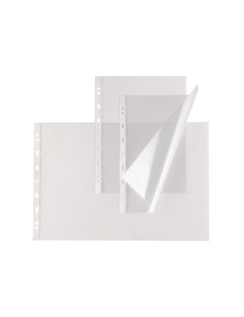 Busta a Perforazione Universale Atla T Sei Rota - 50x70 cm - Liscia Alto Spessore - 665015 (Trasparente Conf. 10)