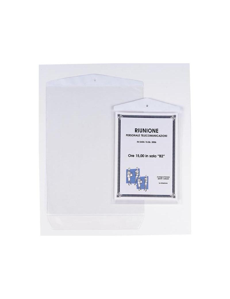 Busta Appendicartello Sei Rota - 22x30 cm - 472230 (Trasparente Conf. 10)