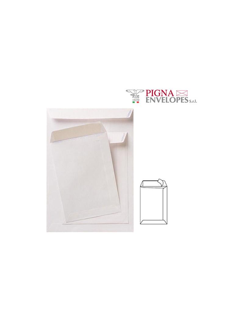 Busta a Sacco Competitor Pigna - con Strip - 30x40 cm - 80 g - 002950740 (Bianco Conf. 100)