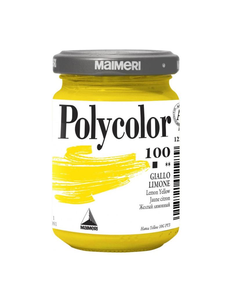 Colore Acrilico Polycolor Maimeri - 140 ml - M1220100 (Giallo Limone Conf. 3)