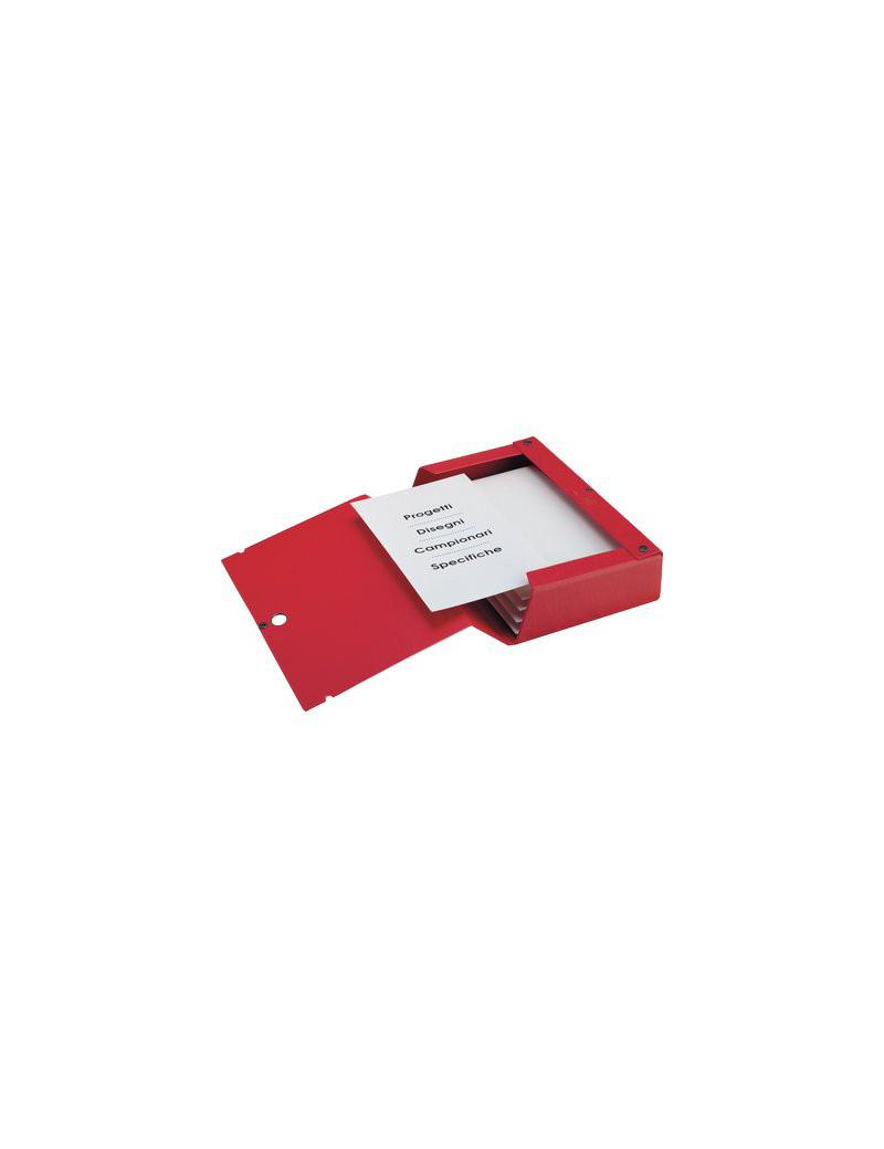 Cartella Portaprogetti Scatto Sei Rota - Dorso 6 - 67900612 (Rosso)