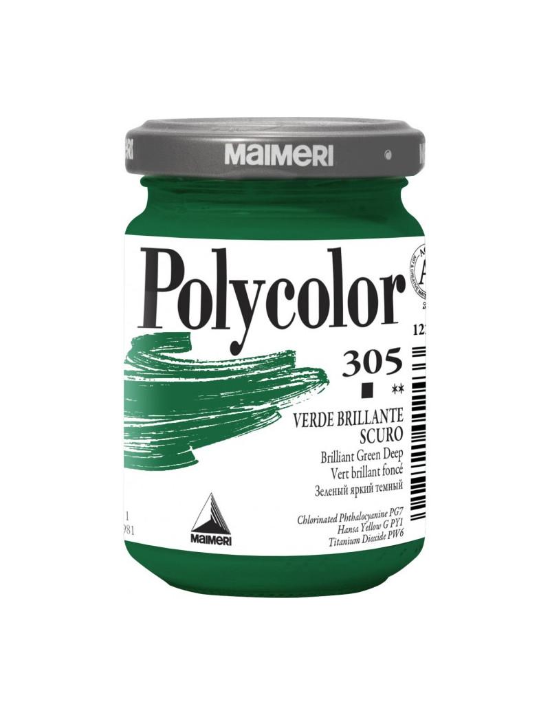 Colore Acrilico Polycolor Maimeri - 140 ml - M1220305 (Verde Brillante Scuro Conf. 3)