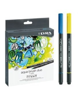 Pennarelli Aqua Brush Duo Lyra Fila - L6521360 (Assortiti Conf. 36)