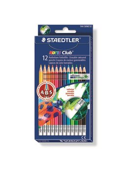 Matite Colorate Cancellabili Noris Club 144 Staedtler - 14450NC12 (Assortiti Conf. 12)