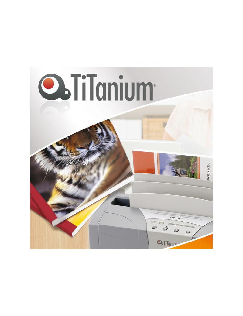Cartelline Termiche per Rilegatura Titanium - Goffrata - 9 mm - CART.TERM9W (Trasparente e Bianco Conf. 50)