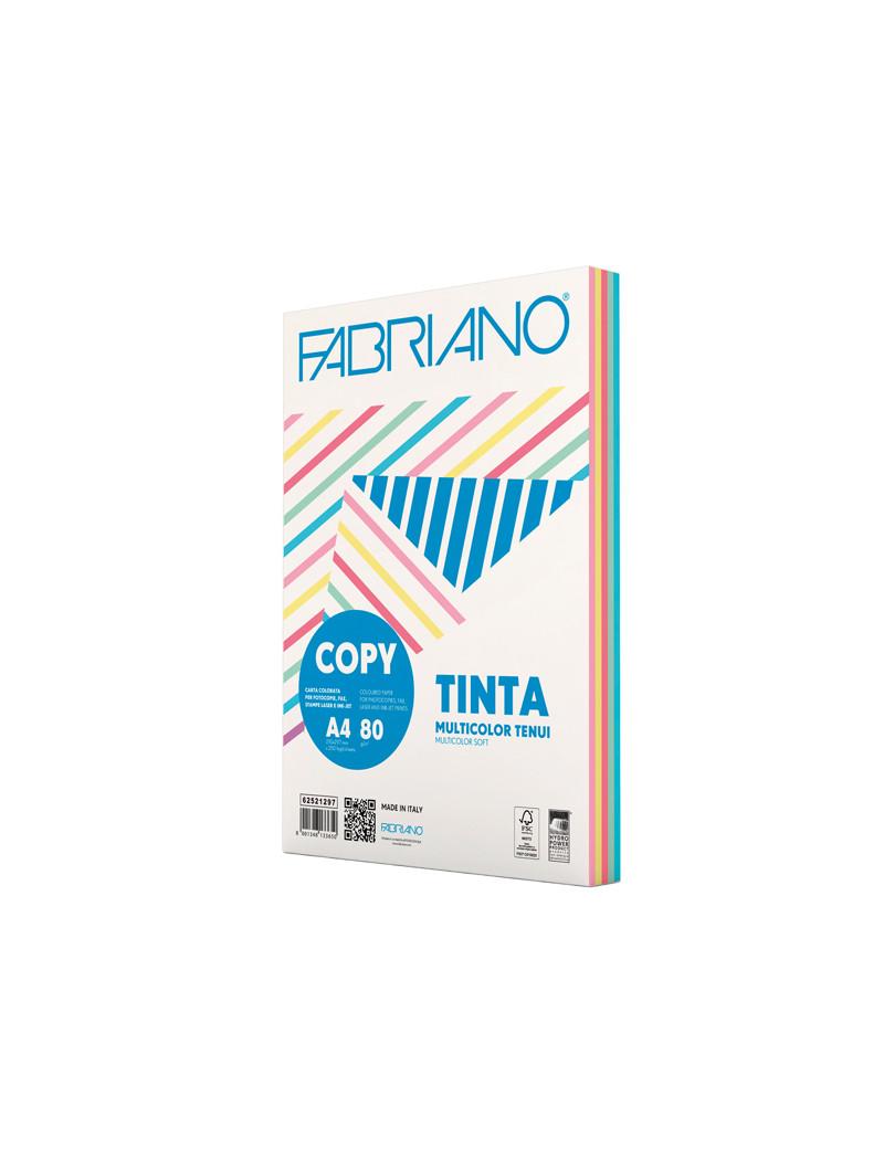 Carta Colorata Copy Tinta Fabriano - A4 - 80 g - 62521297 (Assortiti Tenui Conf. 250)