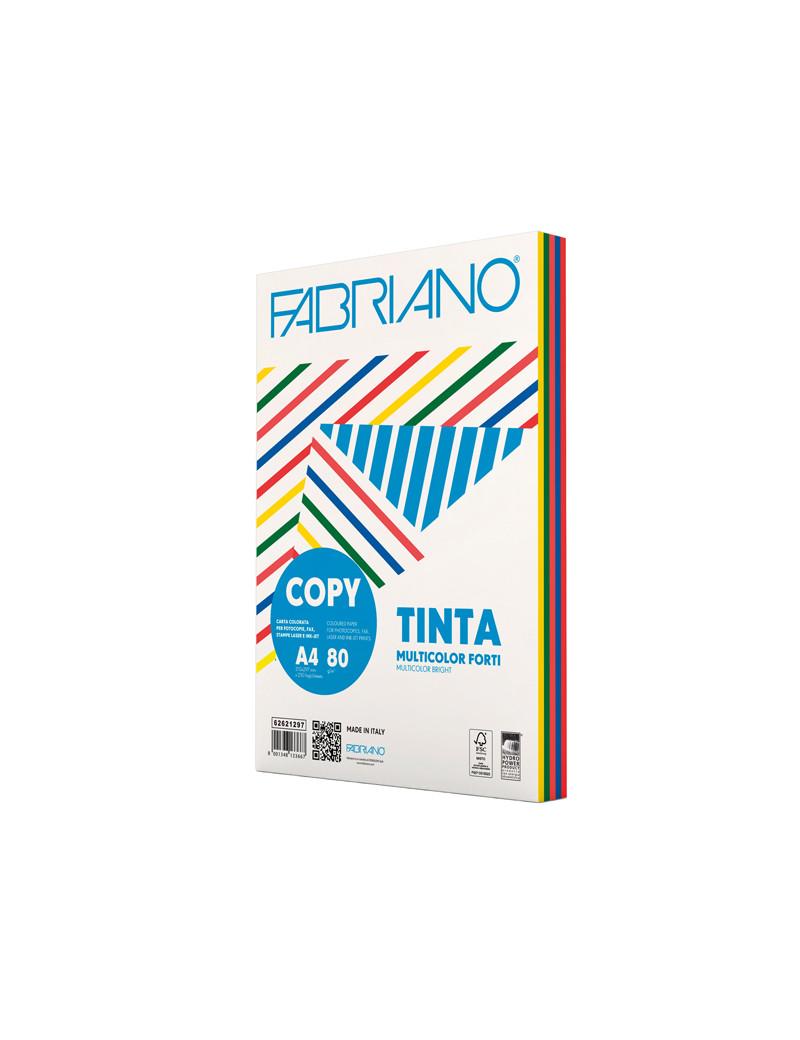 Carta Colorata Copy Tinta Fabriano - A4 - 80 g - 62621297 (Assortiti Forti Conf. 250)