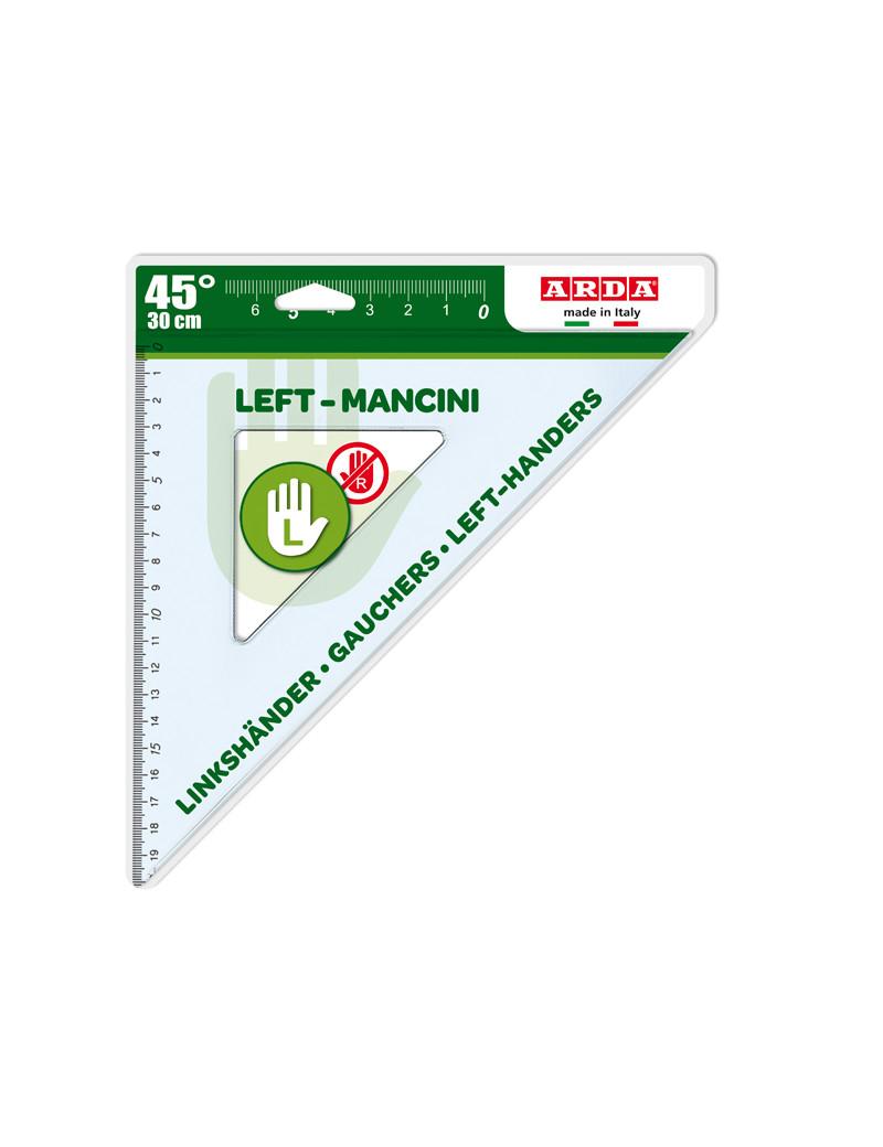 Squadra per Mancini Arda - 45° - 30 cm - 28730MAN (Trasparente)