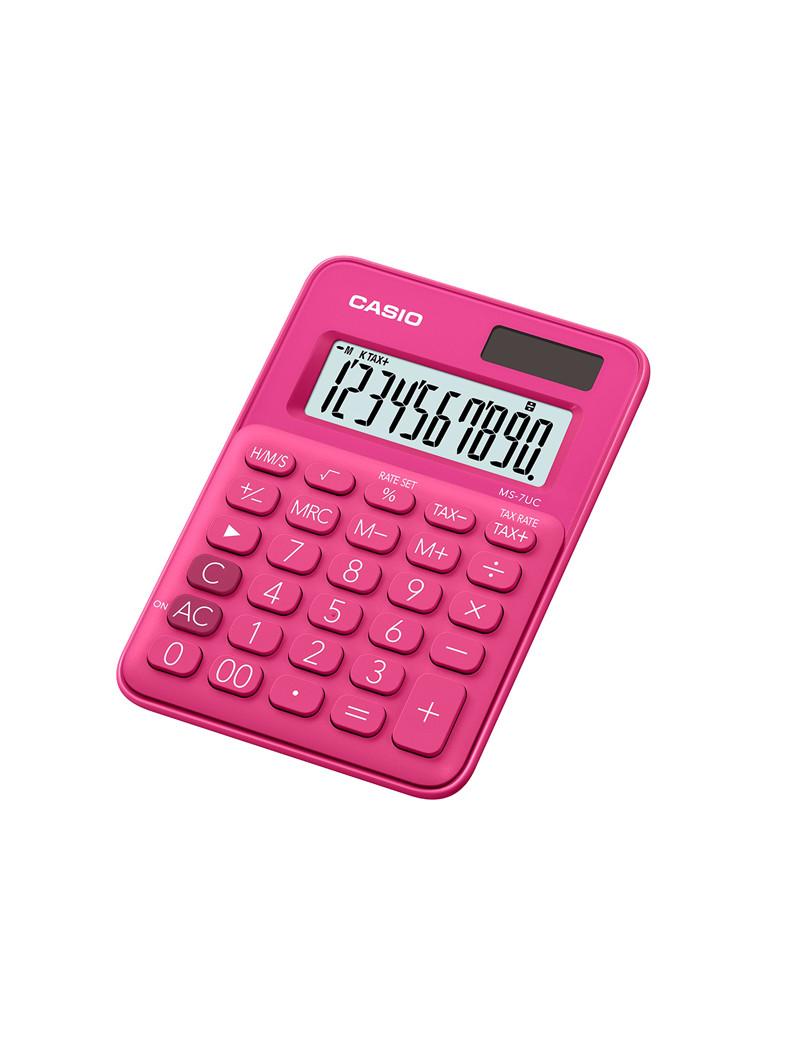 Calcolatrice da Tavolo Casio MS-7UC-RD (Fucsia)