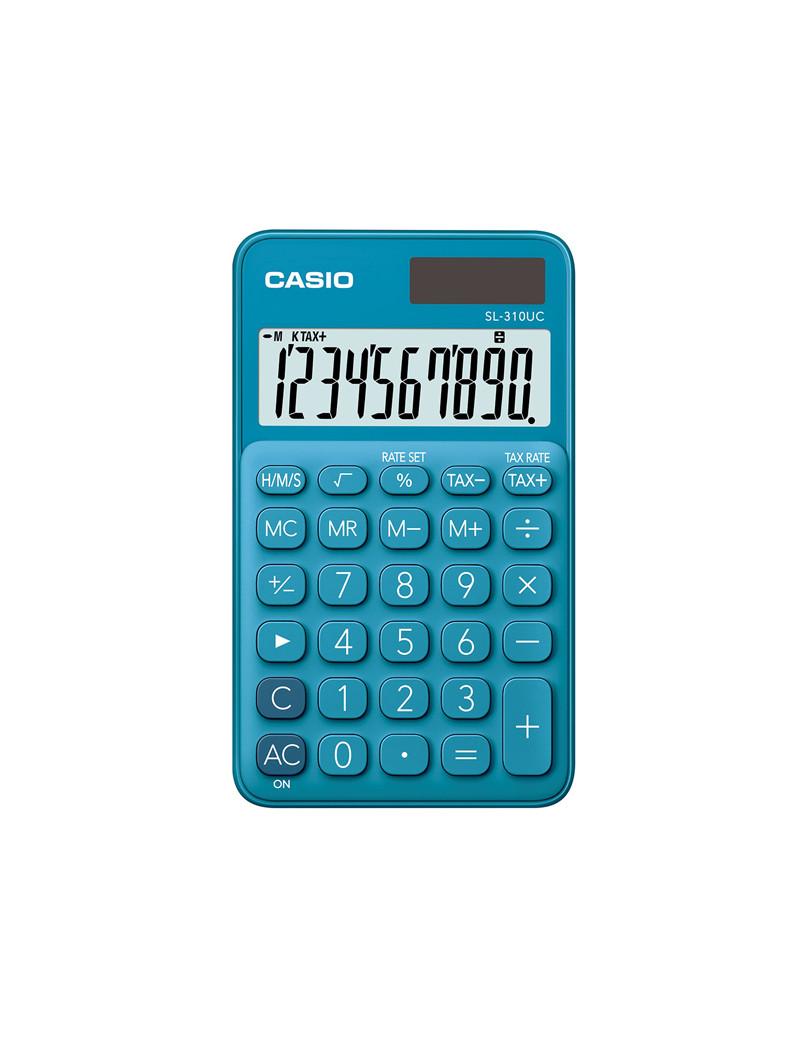 Calcolatrice Tascabile SL-310UC-BU Casio (Blu)