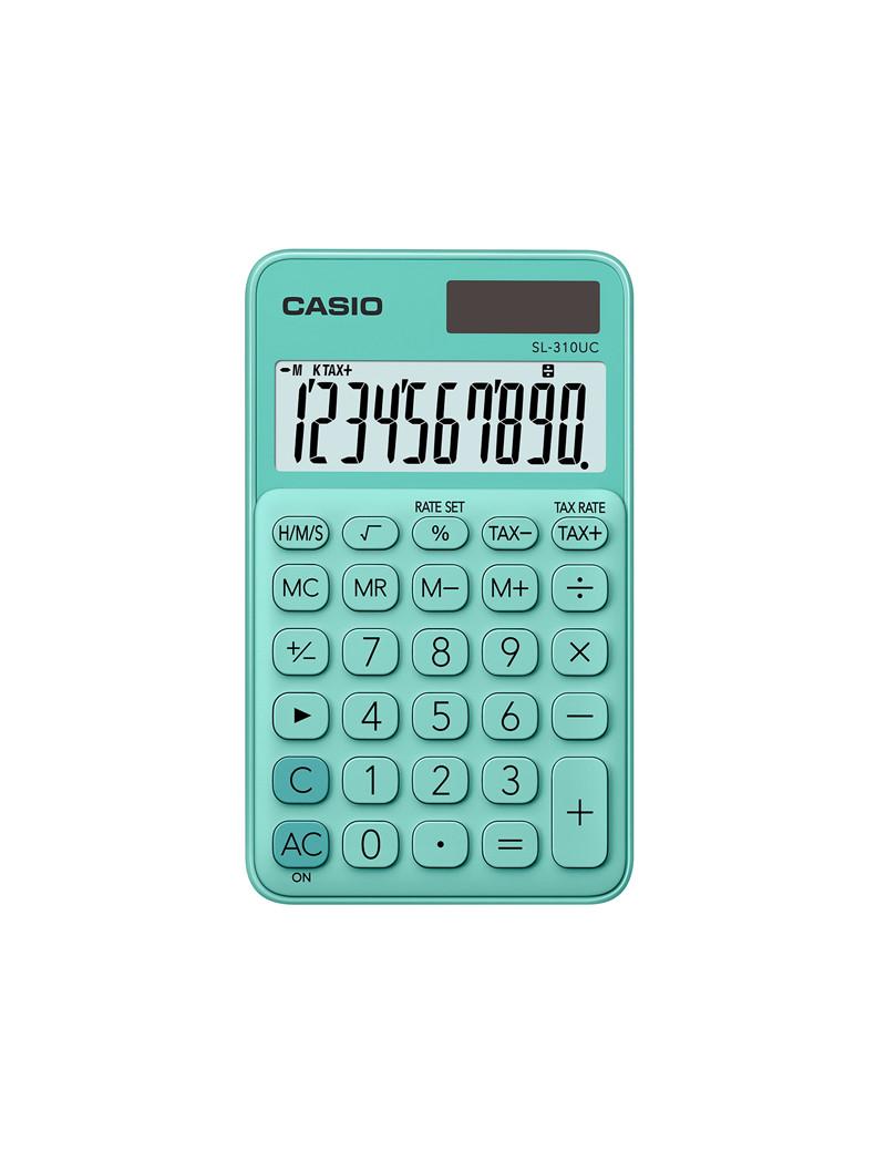 Calcolatrice Tascabile SL-310UC-GN Casio (Verde)