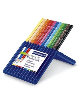 Matite Colorate Ergosoft Staedtler - 3 mm - 157 SB12 (Assortiti Conf. 12)