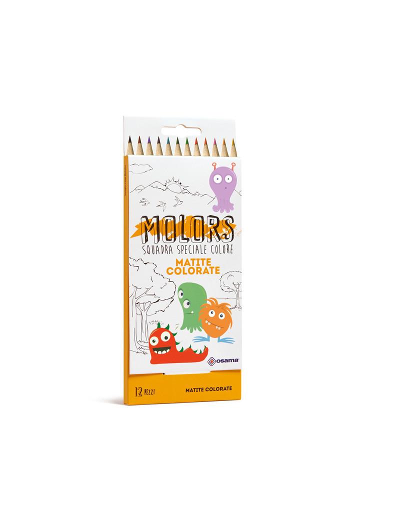 Matite Colorate Molors Osama - OW 12026 (Assortiti Conf. 12)